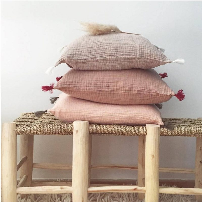 Annabel Kern pink cushions