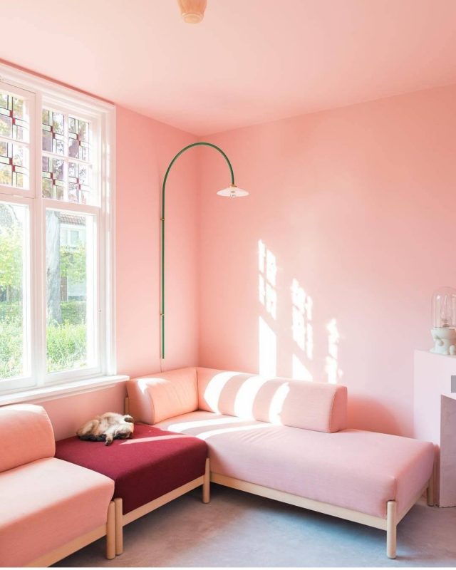 Livingroom that's pinks from top to bottom