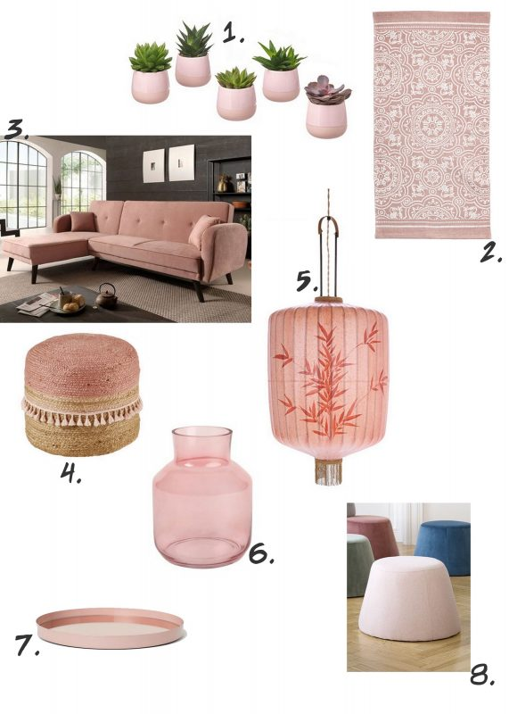 pink trend interior shopping