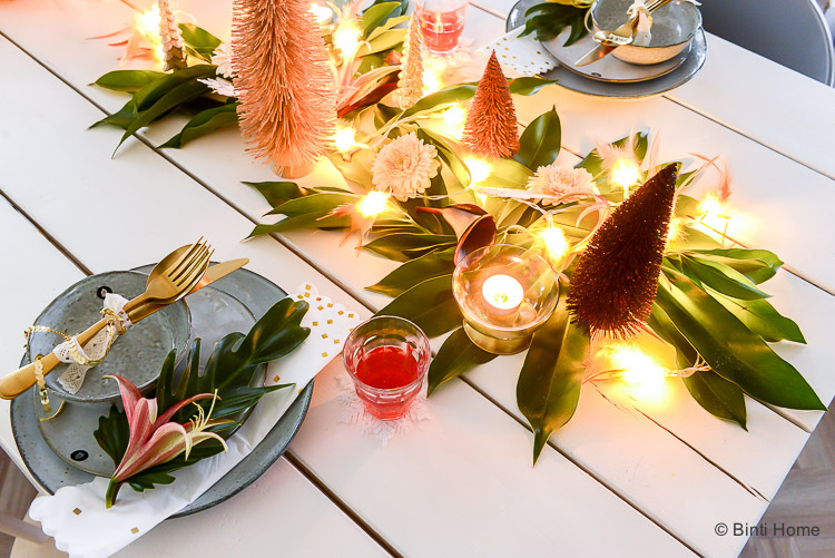 6 last minute ideas to decorate your Christmas table