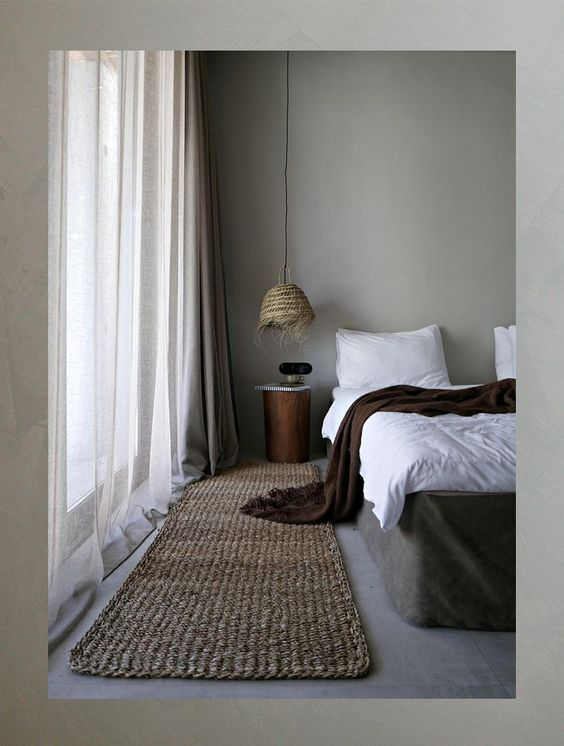 Japandi pour une chambre à coucher