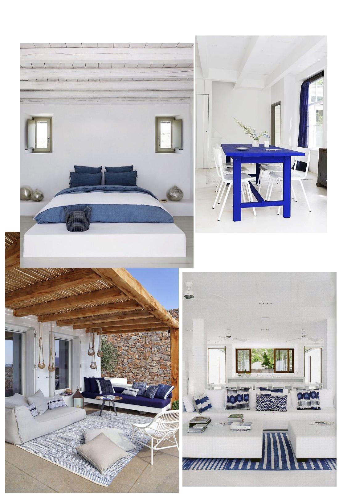 Chambre Provencale Idee Deco le bleu-blanc grecque - mes couleurs déco pour l'été! -
