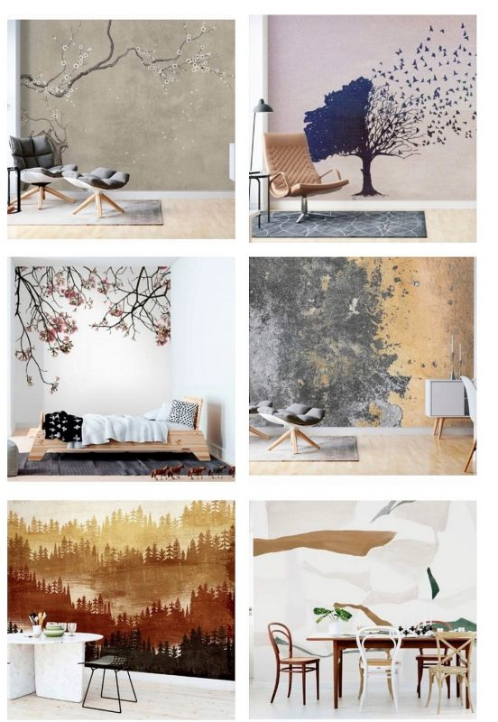 Some of the wallpapers by the swedish brand Photowall.