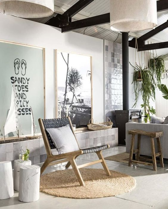 Inspirations to create a beachy ambiance in your home