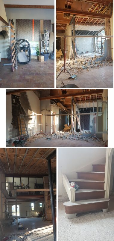 Looking back at our renovation works – The fireplace project and the dining room.